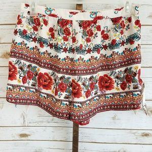 Band of Gypsies Womens Large Boho Floral Shorts